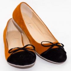 Amaiya Elegance Black an Brown Suede Ballerina Ladies Shoes Black 39
