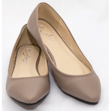 Amaiya Elegance pointy toe with rubber sole brown 41