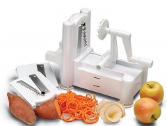 Spiral Vegetable Slicer 3 in 1 Fruit Peeler Cutter Shred vegetable chopper Kitchen Tools white onesize