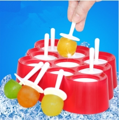 MINI POPS Silicone Ice Cream Popsicle ice lolly Mold 9 Mini-a Popsicle Mold red onesizeBBM1 green onesize