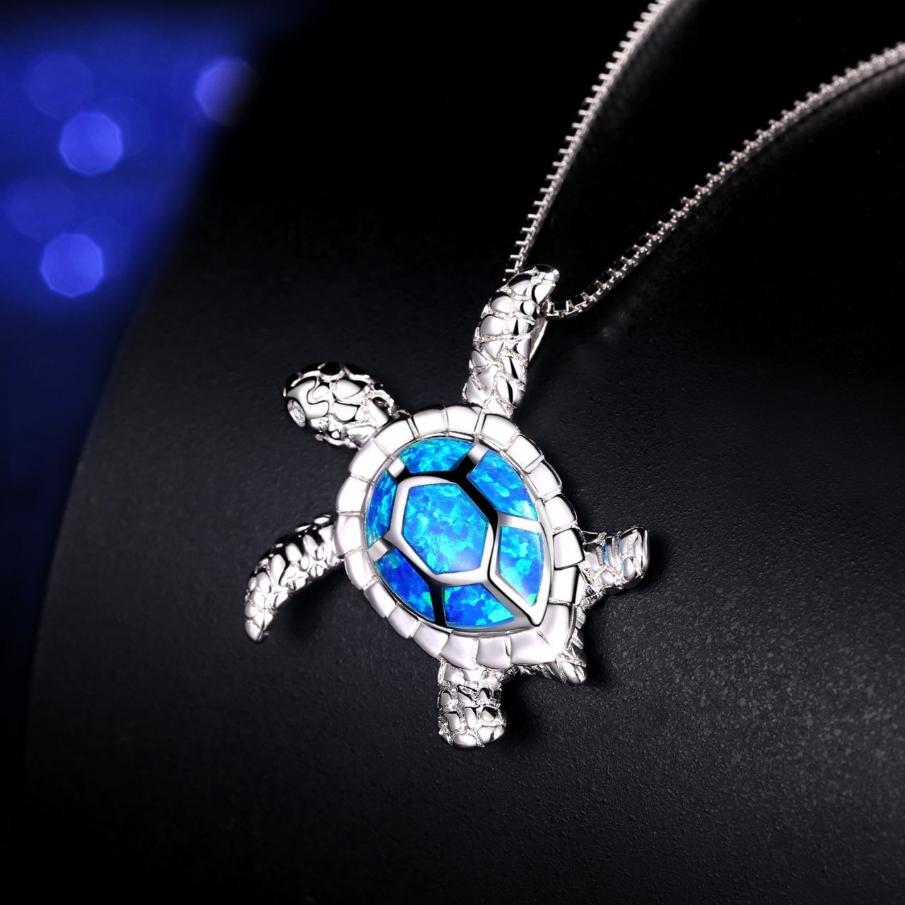 Kilimall hermosa super gift dream fire australian opal 925 sterling super gift dream fire australian opal 925 sterling silver sea turtle pendant 1 aloadofball Choice Image