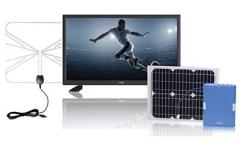 """Cello Solar Powered 22""""Full HD  LED TV Black 22"""