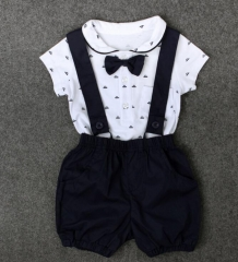 New Gentleman Short Sleeve Cotton Baby And Clothes High Quality Clothing black 80