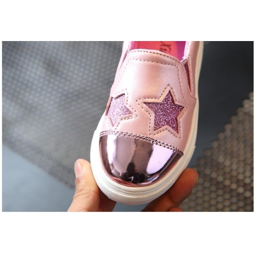 Children shoes Girls 2017 new  fashion casual shoes for 4-12 year rubber sole flat shoes for girls pink 34