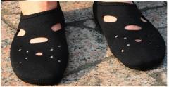non-slip 3MM swimming diving socks breathable speed dry diving material  beach socks black XXS