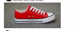 Low canvas shoes vulcanized shoes couple shoes shoes red 35