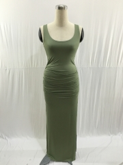 Women's Sleeveless Summer Maxi Dress #01 S