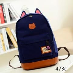 Canvas Backpack Women Casual School Backpacks For Teenage Girls Cartoon Women Bag #01