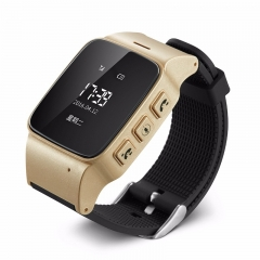 Elderly Smart Watch Phone SOS Anti-lost Gps+Lbs+Wifi Tracking for Old Men Women iOS Android phones gold one size
