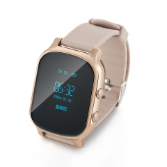 GPS Tracker Smart Watch for Kids Children GPS Bracelet Google Map Sos Button Locator Clock SIM gold