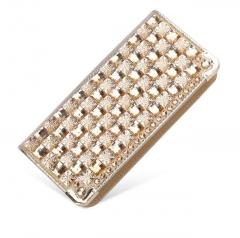 Luxury rhinestone women wallets patent leather high quality lady fashion clutch bag casual purses #01 #01