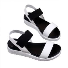 Women Beach Sandals Summer Casual Flat Shoes Peep-toe Roman Lady Flip Flops Footwear #01 US6