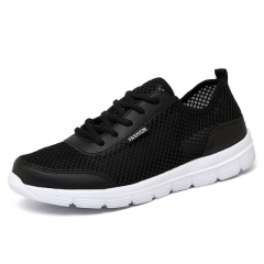 2017 Summer Breathable Casual Shoes Fashion Comfortable Lace up Men Shoes black US4.5