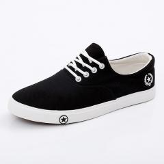 casual shoes man flats breathable Mens fashion classic outdoorcanvas Shoes for Men Zapatos de hombre black US6.5