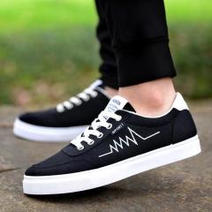 New Free Men Unisex shipping Fashion casual denim canvas shoes men shoes black 7