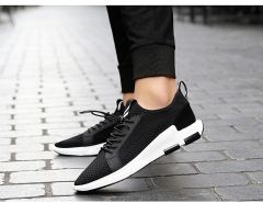No lazy summer breathable mesh lace shoes shoes mens shoes net summer middle-aged male sandals mesh black US7