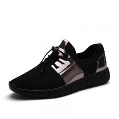 New Men Shoes Fashion Breathable Canvas Shoes Lace-up Mens Casual Shoes Men Flats black US5