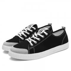 Lace Up Canvas Shoes Men Alpargatas Canvas Trainers Denim Casual  Plimsolls Espadrille Flats black 6.5