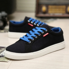 New Brand Flats Breathable mesh Canvas Shoes Men Fashion Cheap Casual Shoes Solid Color #01 US7