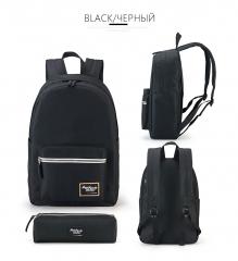 Fashion Backpack Schoolbag Preppy Style School Rucksacks For Girls Teenager Cool Contrast Color Bag black one size