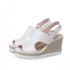 fashion sandals woman good quality platform wedges high heels summer party shoes 2017 new style white US5
