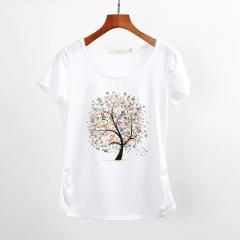 Summer clothing short-sleeve T-shirt female casual shirts top tee harajuku tshirt tops plus size #01 M