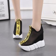 Summer fashion women shoes flats breathable platform casual shoes pink chaussure femme black US4.5