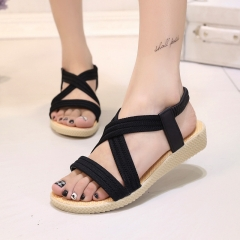 Women Shoes Sandals Comfort Sandals Summer Flip Flops Fashion High Quality Flat Sandals black US5.5