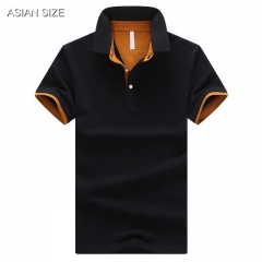 2017 Summer Short Sleeve Polo Shirt Men M-4XL ASIAN SIZE olid color Choose #01 M