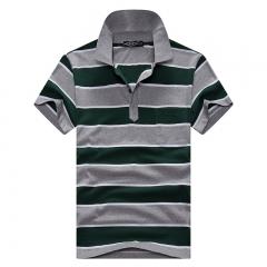 Short Sleeve Polo Shirts Men Summer Fashion Striped Man Polos Shirt Breathable Top Quality Poloshirt #01 L
