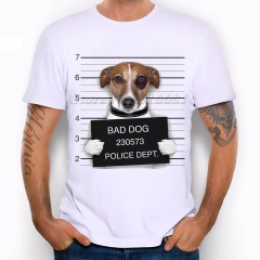 New 2017 Summer Fashion French Bulldog Design T Shirt Men's High Quality dog Tops Hipster Tees #01 S
