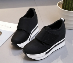 Platform Shoes Woman Wedges Handmade Shoes Moccasins Shoes Female Soft Breathable Ankle Boots black 5