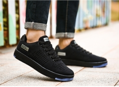 2017 New Style Men Casual Shoes Size Spring Autumn Breathable Mesh Lace-up Men Shoes black US6