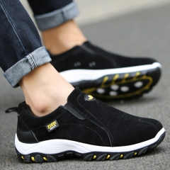 Outdoor Men Shoes Casual Comfortable Fashion Breathable  Flats Trainers zapatillas zapatos hombre black 6.5