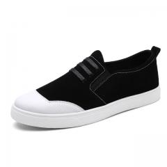 2017 Mens Loafers Flats Moccasins Men Shoes Slip-on Breathable Men Casual shoes black US7