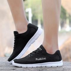 2017Men Shoes Fashion Summer Breathable Mesh Beach Men Plus Size Super Light Casual Shoes black US6.5