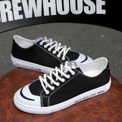 2017 Men Casual Canvas Shoes Summer Breathable Men Shoes Luxury Male Shoes Walking Shoes Footwear black US6.5