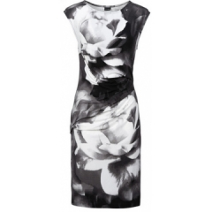 Printed Bodycon Dress Women Summer Dresses Kaige.Nina Brand Plus Size Women Clothing Sexy Dresses black S