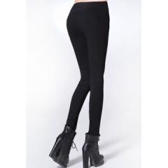 2017 Plus Size Women's Clothing 3XL White Pencil Pants Ladies Cotton High Waist Elastic Trousers black S
