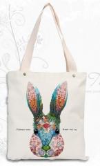 2 Color Canvas Shopping Bag Foldable Reusable Grocery Bags Cotton Fabirc Eco Tote Bag Wholesale #01 one size