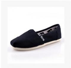 mens Slip-On Espadrille Shoes linen sole canvas men shoes   Breathable Slip on flats black 39