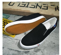 Top Quality Slip On Loafers  Shoes Fashion Personality Stripe Fabric Patchwork  Shoes Casual black 39