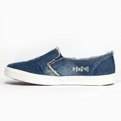 new denim cut out canvas shoes flat fashion trend nice comfortable women loafers 01 35(women)