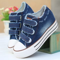 New Women Shoes Lace Up Casual Canvas Shoes Women Platform Spring Summer 01 35(women)