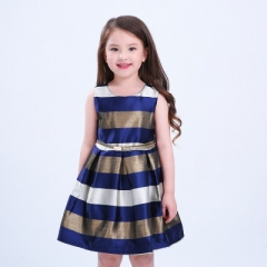 Baby Girl Baptism Dress Vestido Infants  Clothes Princess Dresses 3-10 Year Birthday Party Dress dark blue 100cm