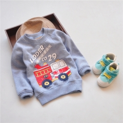 Boys Autumn Clothes Children's Thick Sweatshirts Baby Car Pattern Casual Hoodies Kids grey 100cm