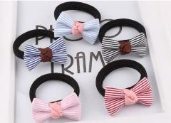 5PCS Multicolor Dot Cloth Women Elastic  Scrunchy Girls Hair Tie Ring Rubber Rope headbands #01 5pcs