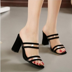 2017 Peep Toe Sexy Women Shoes Comfortable High Heels Fashion Ladies Sandals Shoes black 35