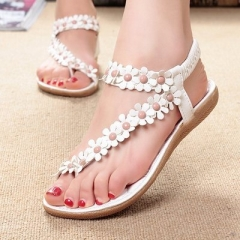 2017 Women Sandals Summer Style Bling Bowtie Fashion Peep Toe Jelly Shoes Sandal Flat Shoes white 35