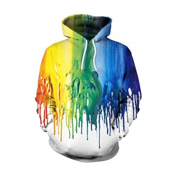 New Fashion Autumn And Winter New Fashion Watercolor Digital Printing hooded sweater  as picture M